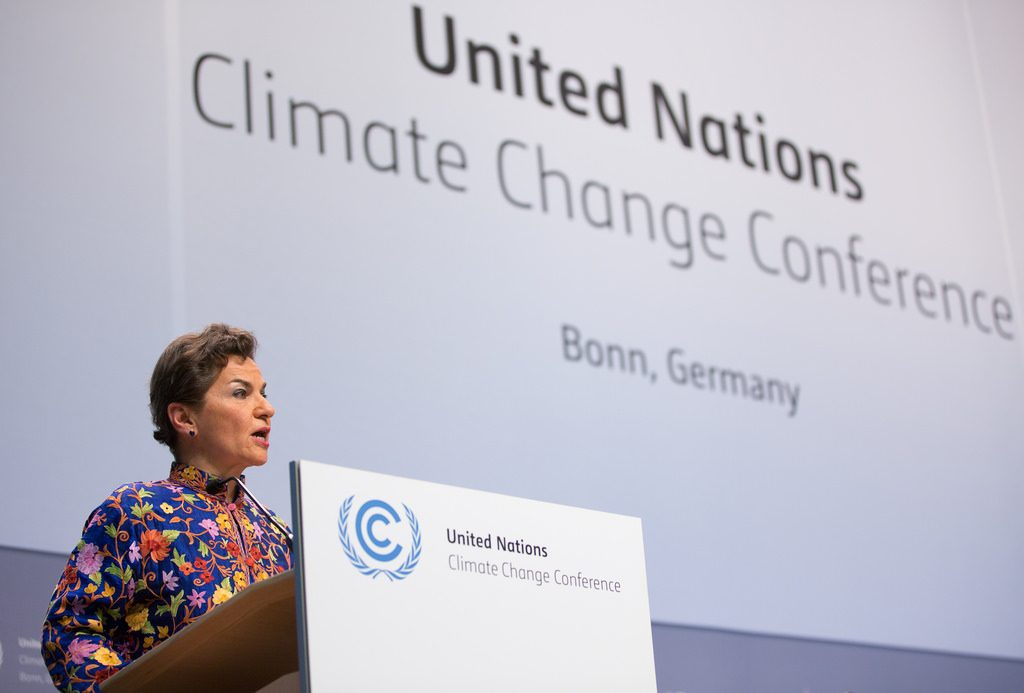 Christiana Figueres at a United Nations Conference on Climate Change.