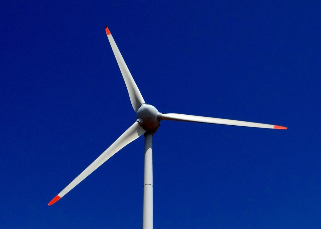 Wind Turbine, photo credit pexels.