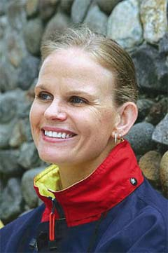 Swimmer Claudia Poll, image Wikimedia.