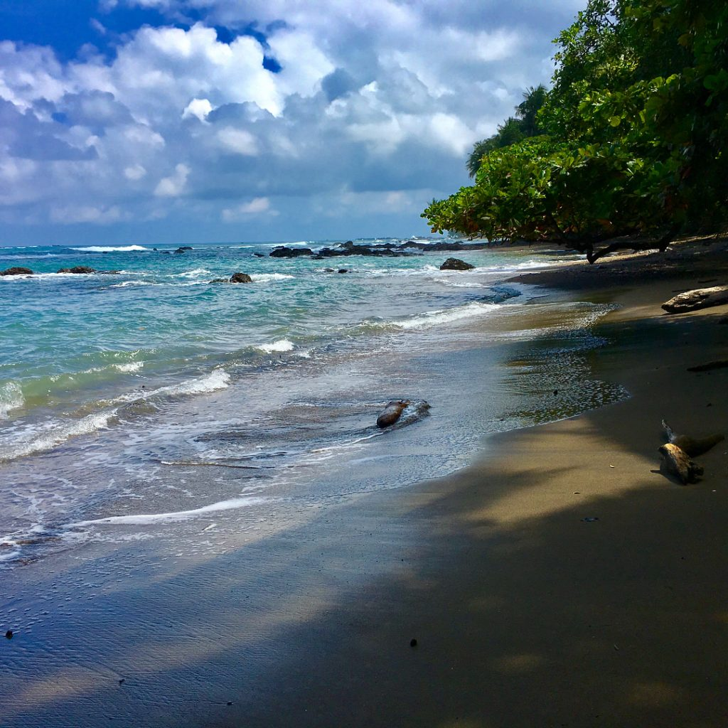 Beach at Corcovado National Park, photo credit @crazycarter222.
