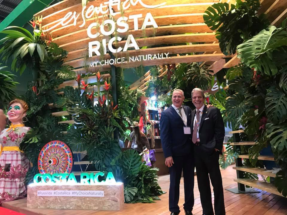 Daniel Chavarria and Mauricio Ventura presenting Costa Rica's stand at World Travel Market